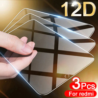 Protector de pantalla de vidrio templado para móvil, cubierta completa para Xiaomi Redmi Note 9, 8, 7, 5, 6, 9S, 10 Pro, 8T, 8A, 7A, 9, 9A, 5 Plus, 3 uds.