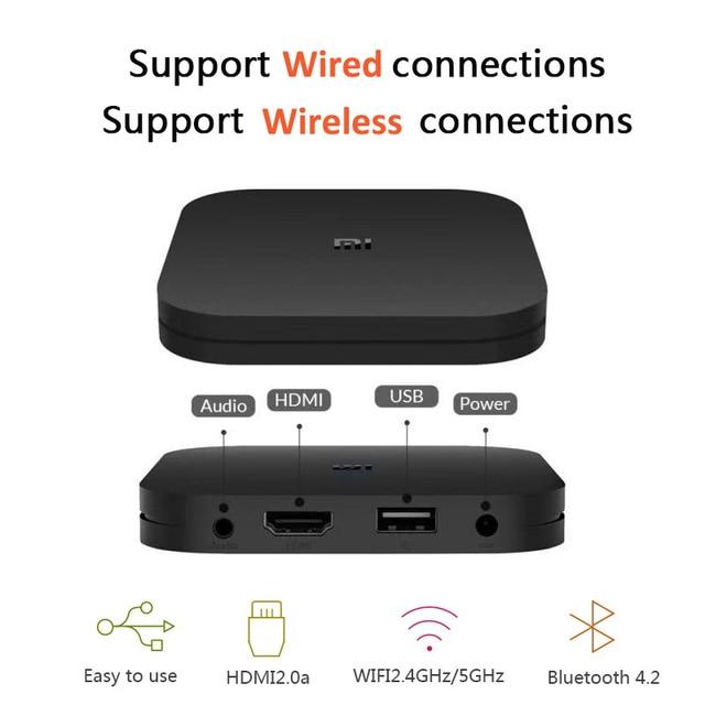 Original Xiaomi Mi caja de S 4K HDR Android TV 8,1 2G 8G WiFi control remoto con asistente de Google Streaming Media Player versión UE