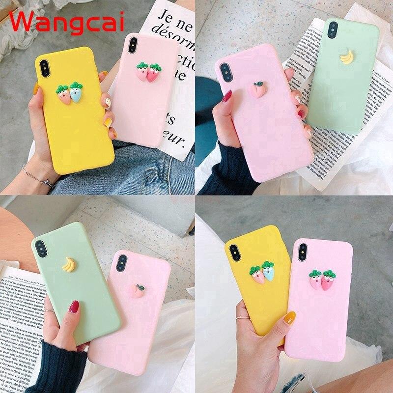 3D Cute Carrot Banana Soft Case For Vivo V17 Pro Nex 3 5G A S S1 Y7S V17 Neo Z5X V11 V15 Pro V11i Y97 Y95 Y93 Y91C Y91 Cover