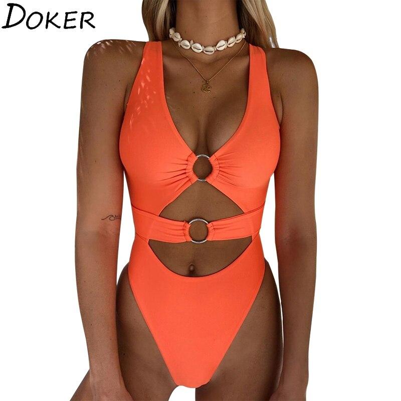 2020 Summer New  Bikini Set Sexy Swimsuits For Women Beach  Swimwear Sport Women One Piece Swimsuit  Womens Swim Wear  Femme