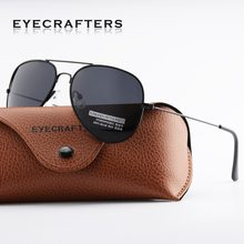 Eyecrafters diseñador de moda para hombre clásico polarizado gafas de marco de Metal piloto gafas de sol gafas 3025