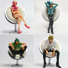 Anime Een Stuk Vinsmoke Familie Vinsmoke Reiju Sanji Yonji Action Figure Op Luffy Fighter Sanji Zitpositie Collection Modus