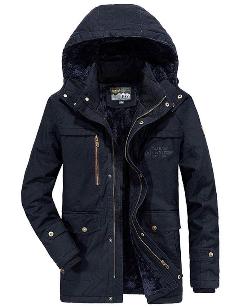 Image 5 - Brand Winter Military jacket Men Windbreaker wool Liner Overcoat Jaqueta Masculina Men's Fur Hooded snow parka Coat men clothing-in Parkas from Men's Clothing