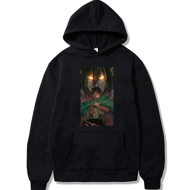 Толстовка Aikooki унисекс с принтом «атака на Титанов», теплая зимняя кофта в стиле хип-хоп, Модный пуловер оверсайз, японское аниме