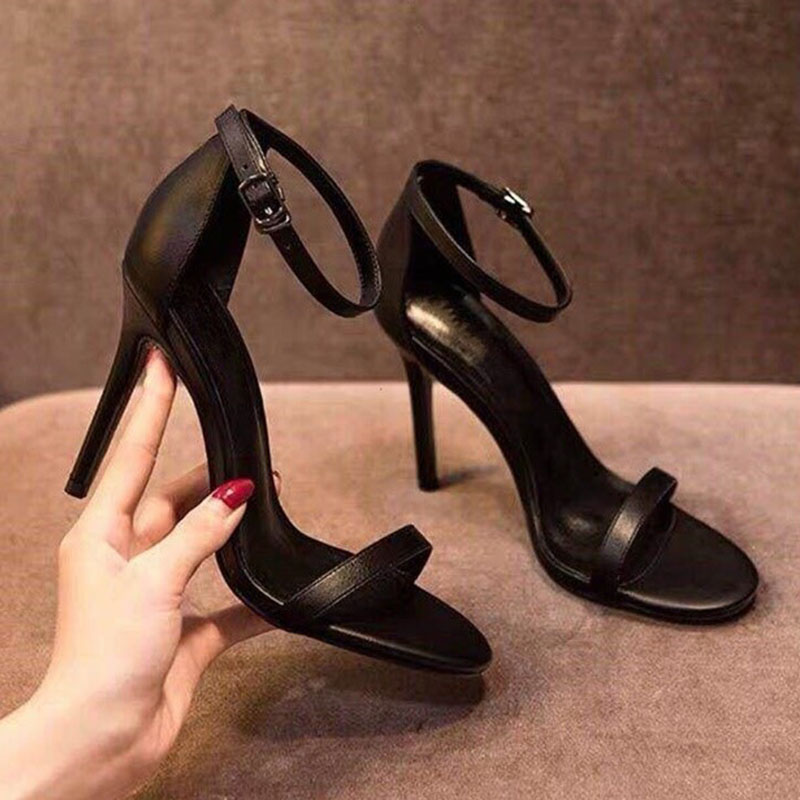 2020 Women Pumps shoes woman Ankle Strap Shoes Sexy Peep Toe Heels Sandals Party Wedding ladies High Heels Luxury Black Zapatos