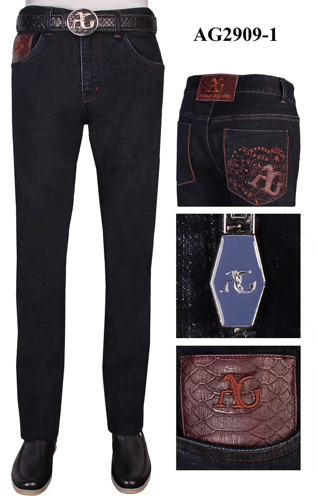 BILLIONAIRE Jeans men Winter thick cotton casual embroidery Cowhide high quality size 31-40 free shippng