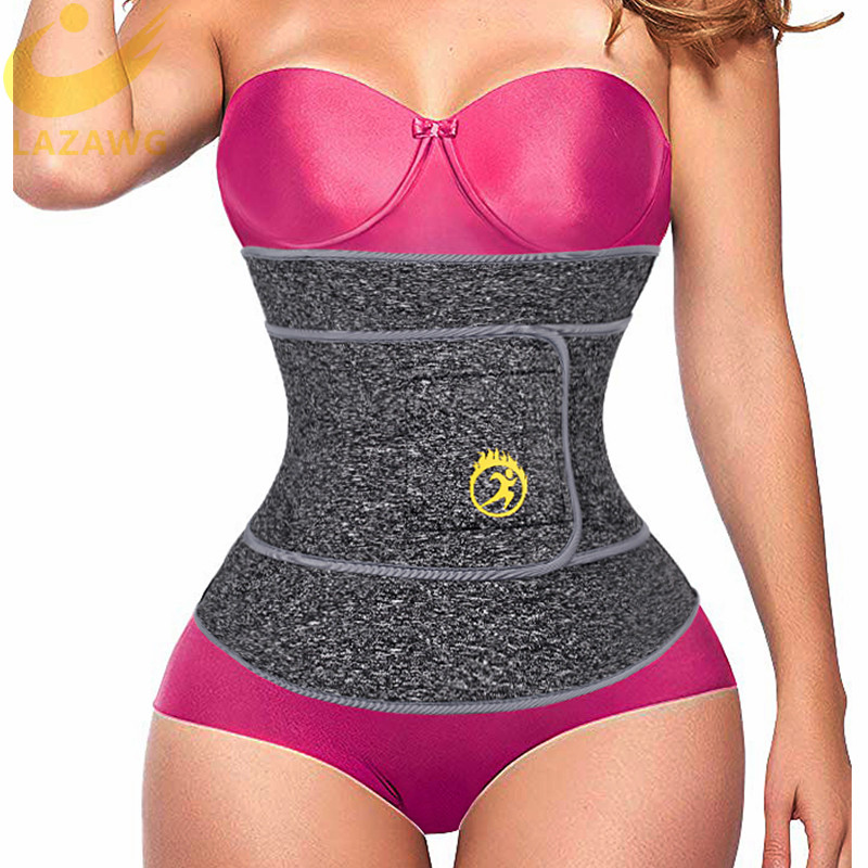 LAZAWG Women Waist Trainer Belt Slimming Sauna Waist Trimmer Belly Band Sweat Sports Girdle Belt No Zipper No Hook Belt Shaper