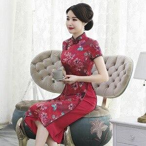 Image 3 - 毎日改善、中長期 aodai チャイナ、女性のスリム、ファッショナブルな、スタンドカラー、薄型チャイナドレス