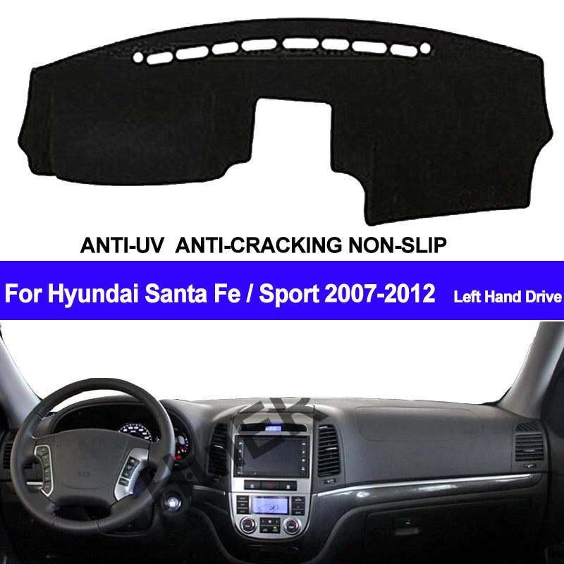 Car Dashboard Cover For Hyundai Santafe Santa Fe 2007 2008 2009 2010 2011 2012 Dash Mat Dash Pad DashMat Carpet ANti-UV NON-Slip