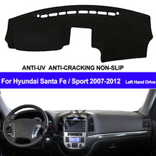 Car Dashboard Cover For Hyundai Santafe Santa Fe 2007 2008 2009 2010 2011 2012 Dash Mat Dash Pad DashMat Carpet ANti-UV NON-Slip(China)