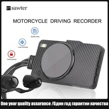 Motorcycle driving recorder 3 inch 170° large wide angle dvr double lens HD 1080P Intelligent anti-shake,Waterproof
