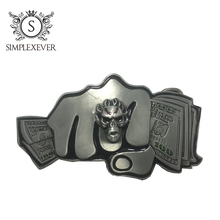 Старинные пряжка пояса с долларами голове новый Ковбой ретро серебряные мужские как год подарки