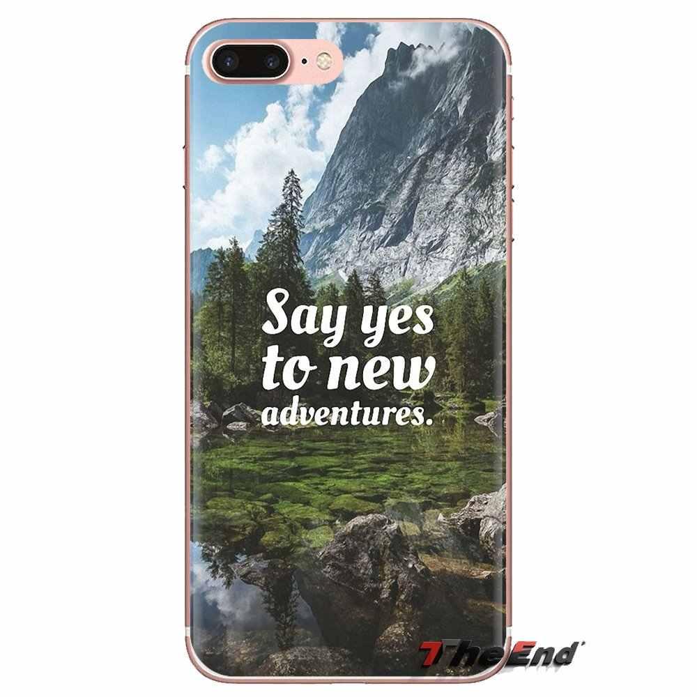 For Huawei P Smart Y6 P8 P9 P10 Plus Nova P20 Lite Pro Mini 2017 SLA-L02 SLA-L22 2i Housing Say yes new adventures travel quotes