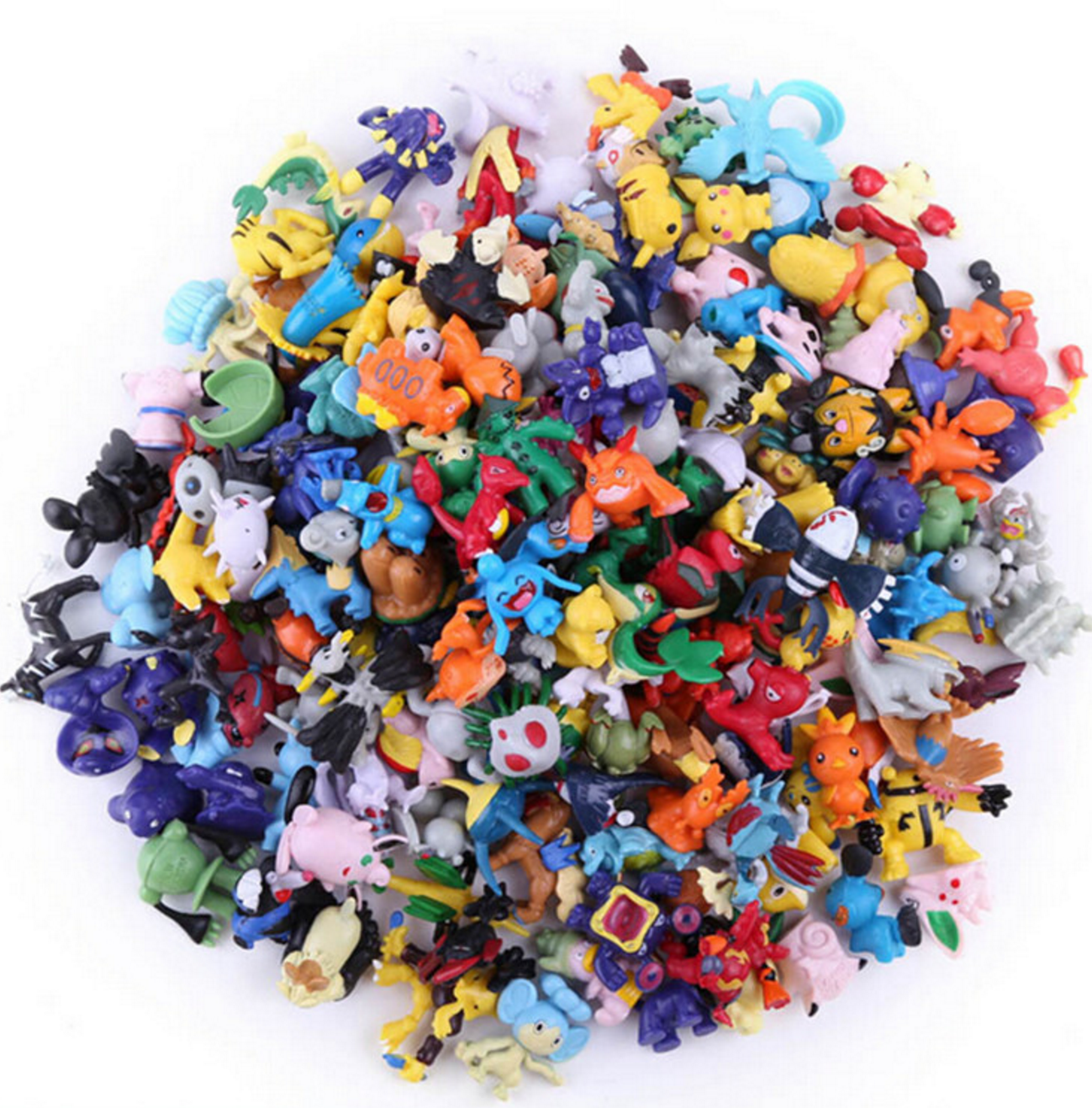 Image 3 - 20/pcs  PokeBalls Action & Toy Figures 7cm balls +20pcs figur Random Mini Figures Inside Anime Action & Toy Figures for ChildrenAction & Toy Figures   -