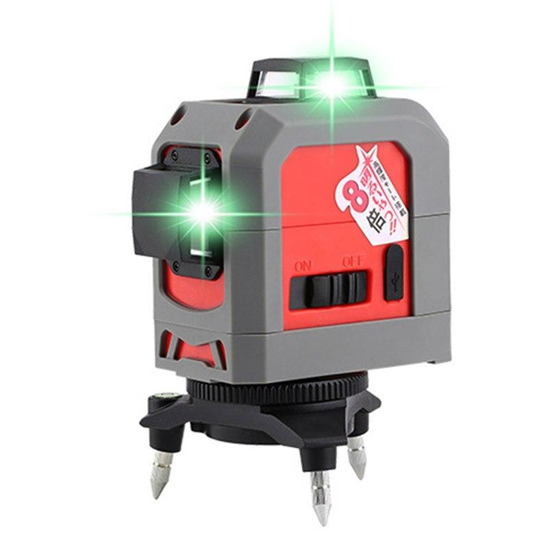 Высокоточный Foucault FC 185 1 самонивелирующийся зеленый лазерный уровень устройства 360 дальномер Лазерная линия измерения строительные инструм