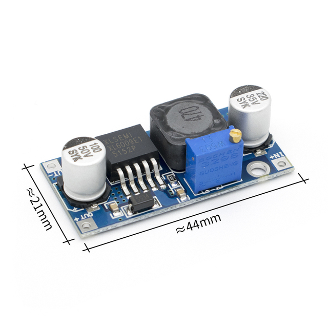 จัดส่งฟรี 50 ชิ้น/ล็อต DC DC XL6009 Booster โมดูลโมดูลเอาต์พุตปรับได้ Super LM2577 ที่ใหญ่ที่สุด 4 current