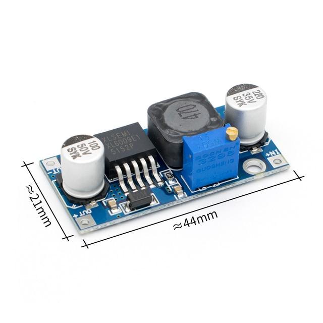 O envio gratuito de 50 pçs/lote DC DC xl6009 impulsionador módulo fonte alimentação saída ajustável super lm2577 maior 4 uma corrente