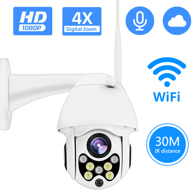 720/1080P PTZ IP Camera Wireless Wifi Outdoor Speed Dome Security Camera Pan Tilt 4X Digital Zoom Network CCTV Surveillance image