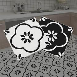 Идеальная североевропейская простая черно-белая плитка художественная Ретро 300x300 кирпичная Кухня Ванная Комната Противоскользящая