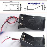 DHL/EMS 250 PCS Kunststoff 9V Volt Batterie Halter Box DC Fall Mit Draht Blei A8-in Batteriezubehörteile und Ladezubehör aus Verbraucherelektronik bei