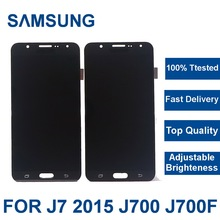 100% Tested Working For Samsung Galaxy J7 2015 J700 SM-J700F J700H J700M J700K phone LCD Display Screen Touch Digitizer Assembly цена и фото