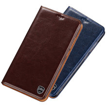 Genuine Leather Phone Holster Card Slot Holder Coque For Sony Xperia L3 Magnetic Phone Case For Sony Xperia L2 Phone Bag Funda(China)