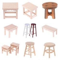 1 шт. 1:12 миниатюрная мебель для кукольного домика деревянный стул-качалка стул с пеньковой веревкой для кукольного домика аксессуары Игрушк...