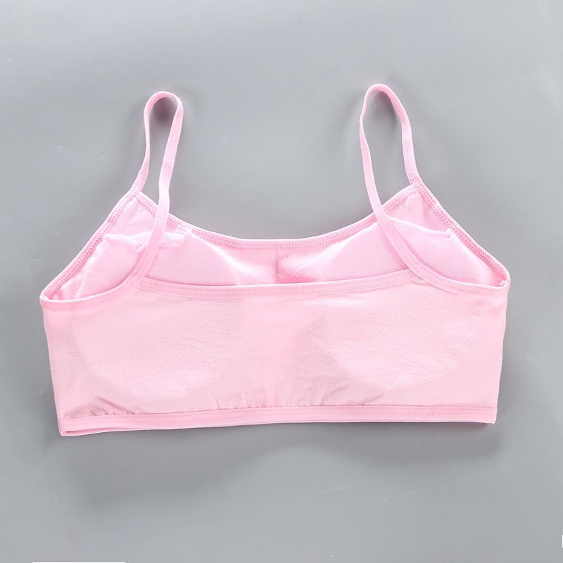 Teens Girls Sports Bra Puberty Gym Underwear Wireless Teenager Girls Sport Bra with Briefs Cotton Young Girls Training Bra Set 6