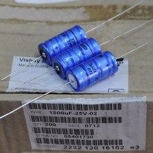2pcs Free shipping Genuine VISHAY BC 25V font b 1500UF b font axial fever filter font