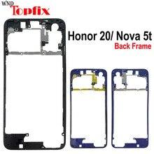 אחורי מסגרת עבור Huawei Honor 20 YAL L21 אחורי לוח צלחת מארז שיכון עבור Huawei נובה 5T בחזרה מסגרת החלפה