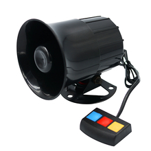 30w 110db  3 Sound Car Tone Loud Horn Motorcycle Truck Speaker Warning Alarm Siren Police Fire Ambulance Horn Loudspeaker цена 2017