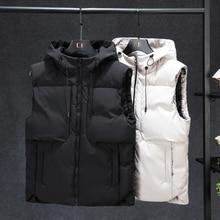 Plus Size 7XL 6XL 5XL XXXXL Hoodie Vest For Men Winter Warm Thick Casual Windbreaker Sleeveless Jacket Male Classic Waistcoat