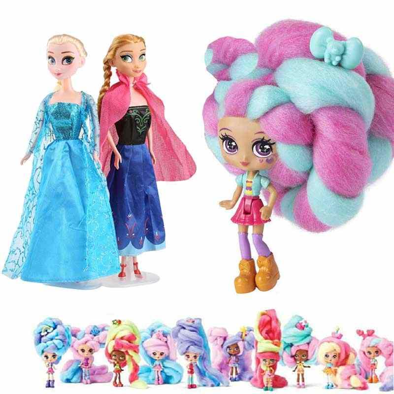 Novo 31cm brinquedos princesa anna elsa boneca meninas 12 articulações móveis presente de aniversário bonito meninas pelucia boneca juguetes brinquedos para crianças