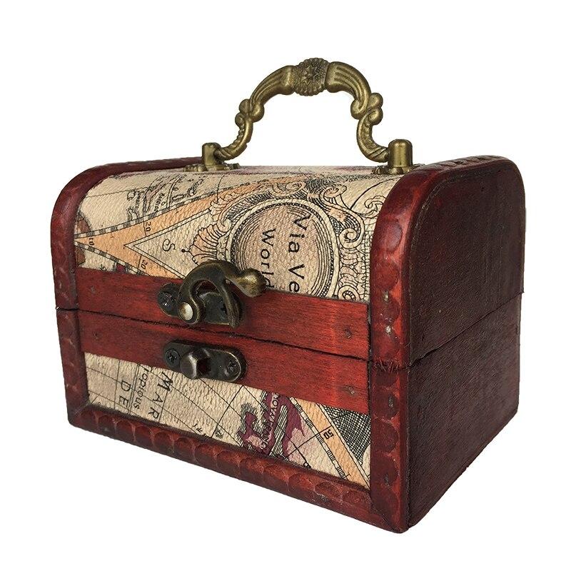 1//6 Dollhouse Miniature Furniture Livingroom Suitcase Trunk w// Antique Hardware