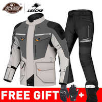 LYSCHY motocykl kurtka lato Moto garnitur motocykl kurtka do jazdy kurtka motocross oddychająca wodoodporna ochrona motocykla