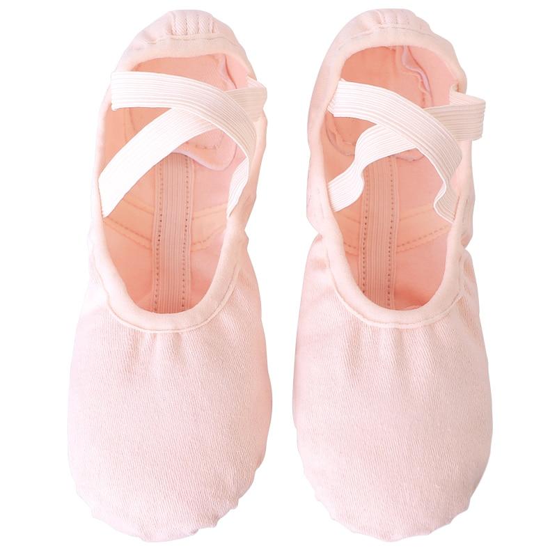 Women Girls Kids Elastic Canvas Ballet