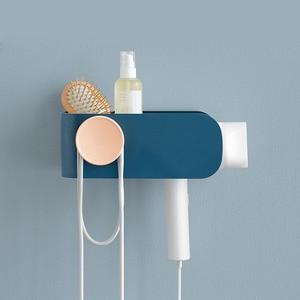 Image 2 - Original Xiaomi Mijia MIJOY Hair Dryer Rack Wall Mount Hair Dryer Holder Hair Dryer Rack Comb Shaver Hold Shelf