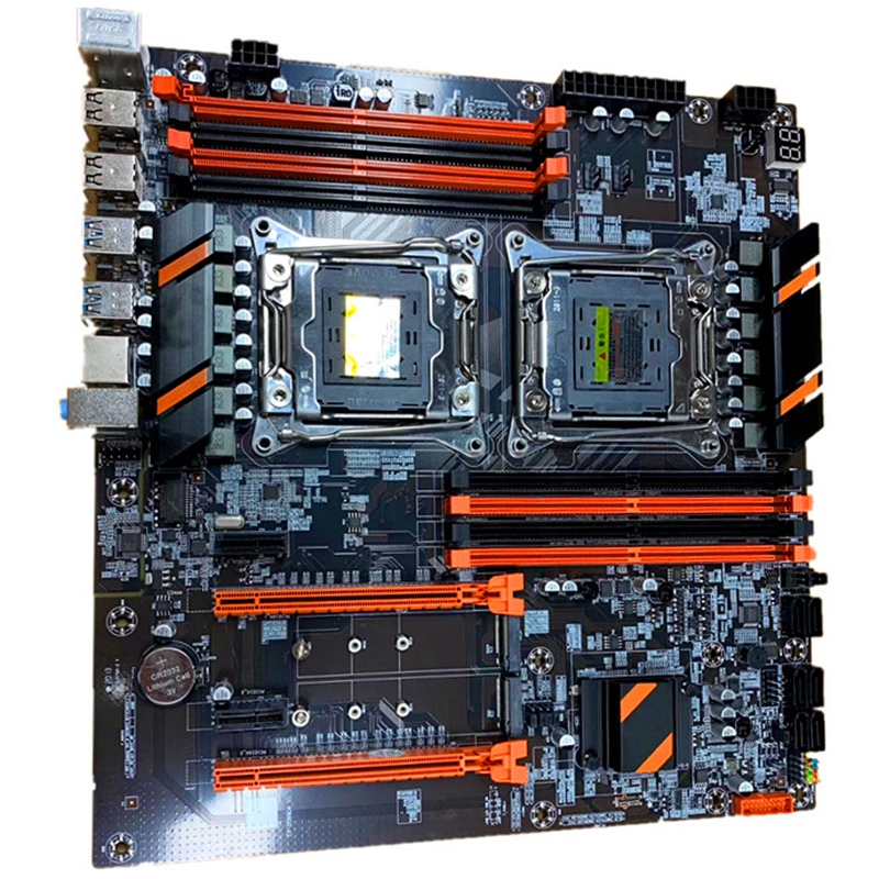 New X99 Dual Computer Motherboard LGA2011 CPU RECC DDR4 Memory Eating Chicken Game Motherboard