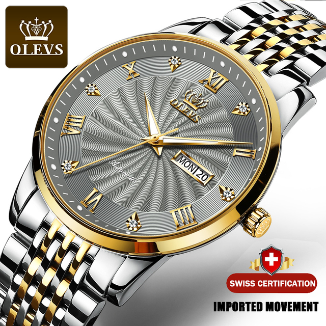 OLEVS Men Mechanical Watch Top Brand Luxury Automatic Watch Sport Stainless Steel Waterproof Watch Men relogio masculino 6530 1