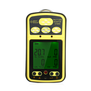 SMART SENSOR ST8990 Multi Gas Monitor Rechargeable 4 in1 O₂ LEL CO H₂S Gas Detector Tester Sensor with Backlight Alarm Function