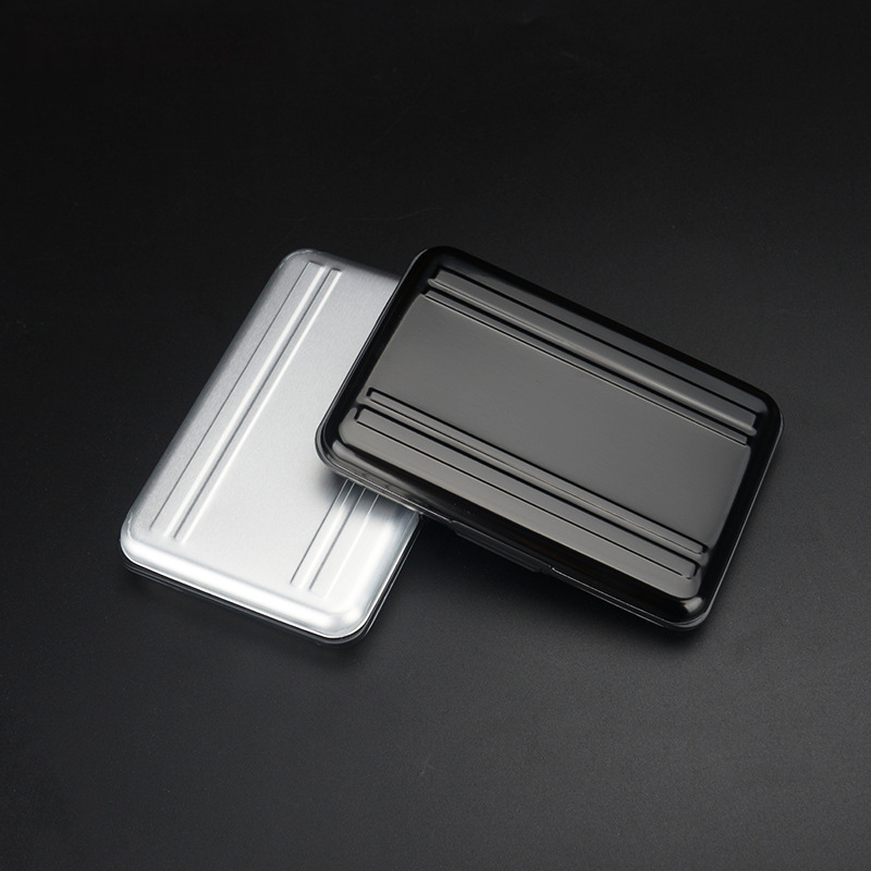 Image 3 - Portable Black Aluminum Memory Card Case 16 Slots (8+8) for Micro SD SD/ SDHC/ SDXC Card Storage Holder New Card Case-in Memory Card Cases from Computer & Office