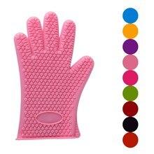 Oven Gloves Cooking Silicone Heat-Insulation Anti-Slip Thicken Dishwashing Sale-Hot