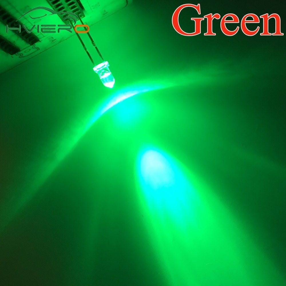200Pcs LED DIFFUSED F5 5MM GREEN COLOR GREEN LIGHT Super Bright Bulb Lamp