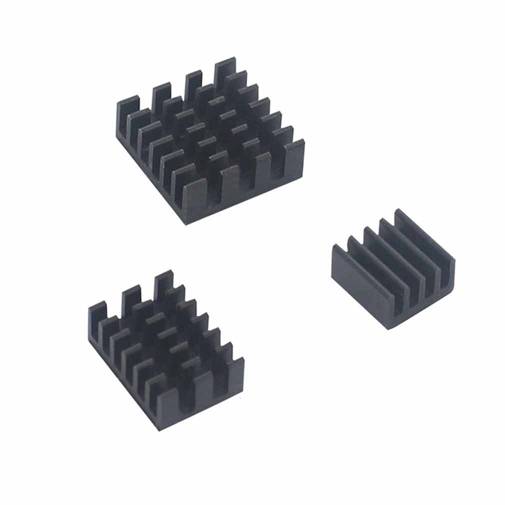 For Raspberry Pi 4 Model B Heat Sink 3pcs Raspberry Pi Aluminum Heatsink Radiator Cooling Kit Cooler For Raspberry Pi