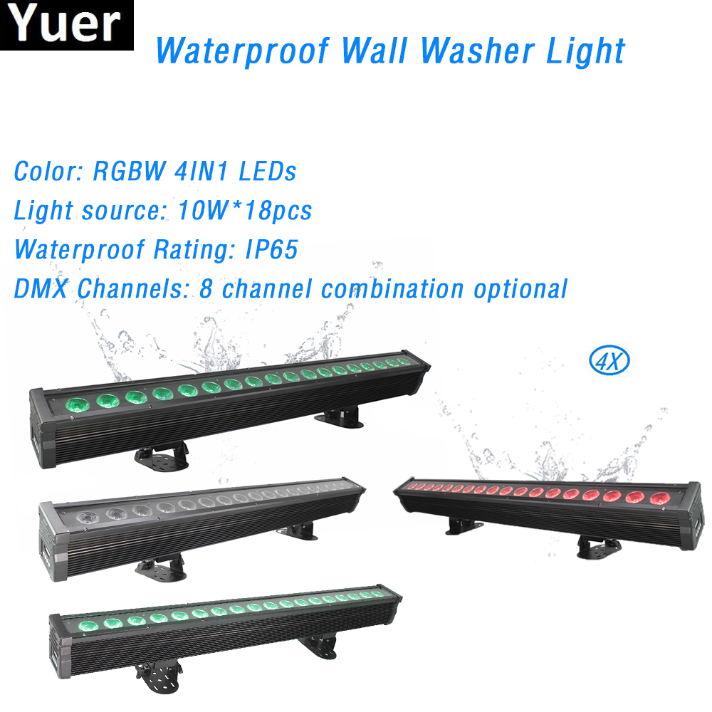 4Pcs/Lot 15W IP65 Waterproof DMX Control LED Wall Washer Light Disco Club Bar Luces Stage Light Family Party Landscape Light