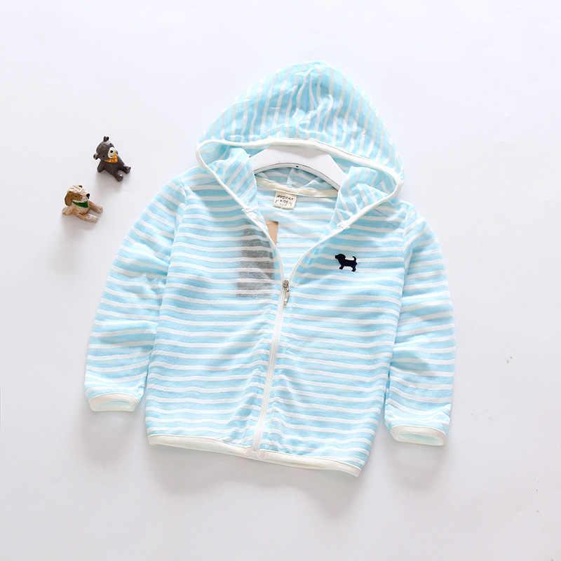 IENENS verano niños bebé niño niña ropa niños Tops delgados abrigos con capucha chaquetas Rash guardia Color sólido Snnscreen ropa