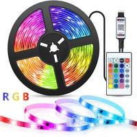 USB LED Streifen Licht Bluetooth TV Hintergrundbeleuchtung Streifen Lichter RGB 2835 Farbe DC5V mit Ir-fernbedienung Farbe Wechselnden Lichter für wohnkultur