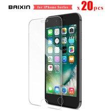 20 stück für iPhone XR X XS 8 7 6s Plus 5 s 5 SE Gehärtetem Glas 2,5 D ultra-Thin Klar 9H Screen Protector Glas Film Abdeckung