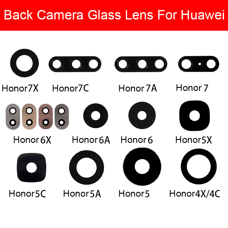 Rear Camera Glass Lens Ring Cover For Huawei Honor Play 4X 4C 5A 5C 5X 6 6A 6X 7 7A 7C 7X 8A 8C 8X Back Camera Glass Lens