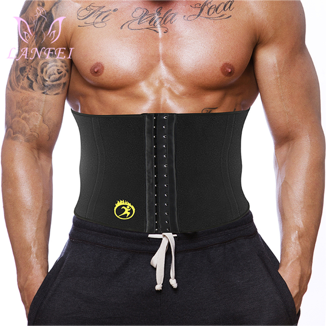 LANFEI Body Shaper Waist Trainer Slimming Shapewear Men Neoprene Sauan Sweat Weight Loss Belt Gym Fitness Modeling Strap Corset